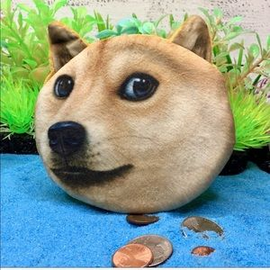 Other - Shibu Inu Dog Coin Purse Funny Lookin'